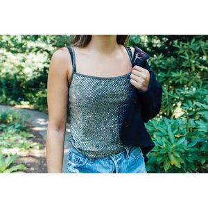 Sequin Tank Top size small
